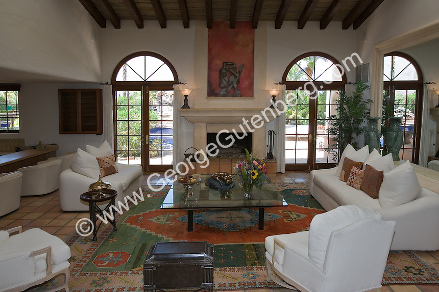 Overview Of Mediterranean Style Living Room With White Furniture Part 83