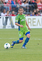 August 10, 2013: Seattle Sounders FC midfielder Osvaldo Alonso #6 in action during an MLS regular season game between the Seattle Sounders and Toronto FC at BMO Field in Toronto, Ontario Canada.<br /> Seattle Sounders FC won 2-1.