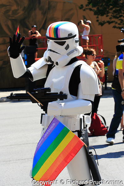Star wars character in the Montreal Pride parade