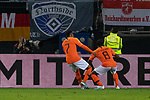 06.09.2019, Volksparkstadion, HAMBURG, GER, EMQ, Deutschland (GER) vs Niederlande (NED)<br /> <br /> DFB REGULATIONS PROHIBIT ANY USE OF PHOTOGRAPHS AS IMAGE SEQUENCES AND/OR QUASI-VIDEO.<br /> <br /> im Bild / picture shows<br /> 2:4 durch Georginio WIJNALDUM (Niederlande / NED #08) <br /> Jubel <br /> <br /> <br /> während EM Qualifikations-Spiel Deutschland gegen Niederlande  in Hamburg am 07.09.2019, <br /> <br /> Foto © nordphoto / Kokenge