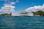 Approaching USS Arizona Memorial, Pearl Harbor ©2017 James D Peterson