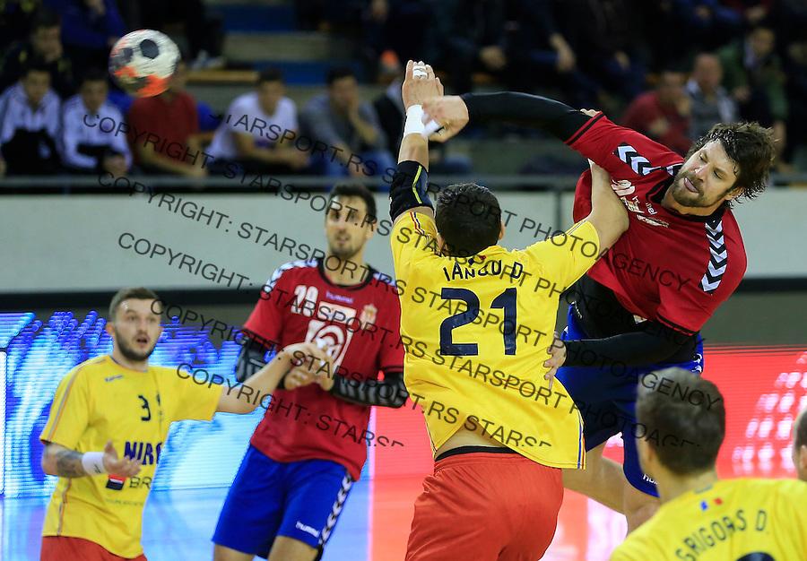 Rukomet-Handball<br /> Srbija v Rumunija-Prijateljski mec friendly match<br /> Momir Rnic (R)<br /> Beograd, 28.12.2015.<br /> foto: Srdjan Stevanovic/Starsportphoto&copy;