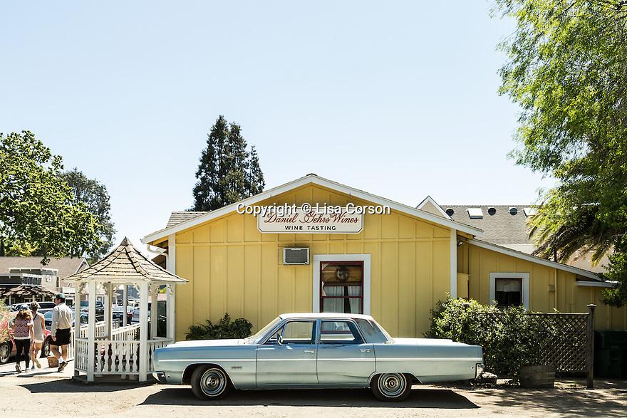 Daniel Gehrs Wines tasting room in Los Olivos, California.
