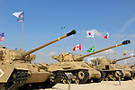 Israel, tanks on display at the Armored Corps Memorial Site and Museum in Latrun