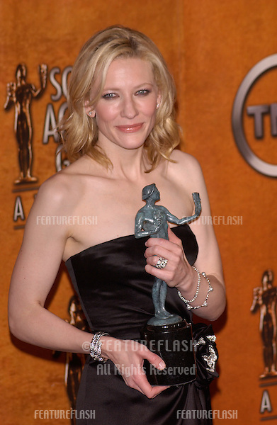 Feb 5, 2005; Los Angeles, CA: CATE BLANCHETT at the 11th Annual Screen Actors Guild Awards at the Shrine Auditorium.