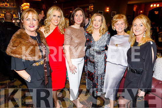 Marian McGillicuddy, Elaine Young, Marie Galvin, Jean Akrell, Pearl and Carmel McGillicuddy enjoying the Ballygarry House Hotel Christmas Party in the Rose Hotel on Sunday.
