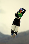 16 January 2005 - Lake Placid, New York, USA - Deidra Dionne representing Canada, competes in the FIS World Cup Ladies' Aerial acrobatic competition, ranking 5th for the day at the MacKenzie-Intervale Ski Jumping Complex, in Lake Placid, NY. ..Mandatory Credit: Ed Wolfstein Photo.