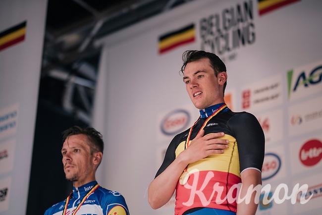 Yves Lampaert (BEL/Quick-Step Floors) is the new Belgain National Champion<br /> <br /> Belgian National Championships 2018 (road) in Binche (224km)<br /> ©kramon