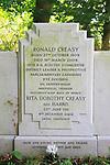 Ronald and Rita Creasy gravestone, British Union of Fascists, Monk Soham, Suffolk, England, UK