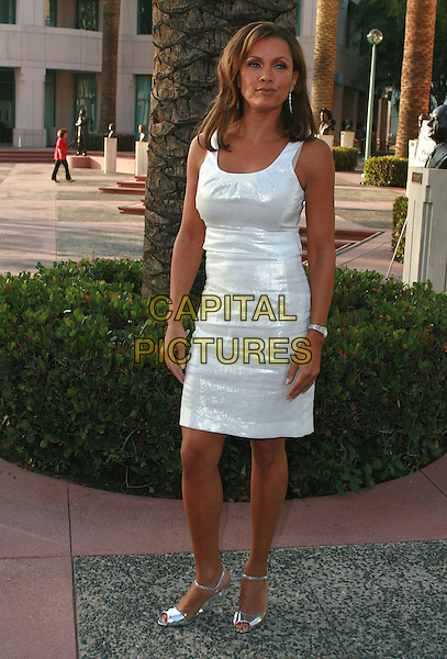 "VANESSA WILLIAMS.An Evening with ""Ugly Betty"", presented by the Academy of Television Arts and Sciences held at the Leonard Goldenson Theater, North Hollywood, California, USA,.30 April 2007..full length white dress silver wedges  perspex.CAP/ADM/CH.©Charles Harris/AdMedia/Capital Pictures."