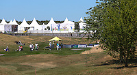 View of the first tee during the preview days of the 2015 Alstom Open de France, played at Le Golf National, Saint-Quentin-En-Yvelines, Paris, France. /30/06/2015/. Picture: Golffile | David Lloyd<br /> <br /> All photos usage must carry mandatory copyright credit (&copy; Golffile | David Lloyd)