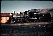 D&amp;RGW #319 C-18 at Gunnison.<br /> D&amp;RGW  Gunnison, CO