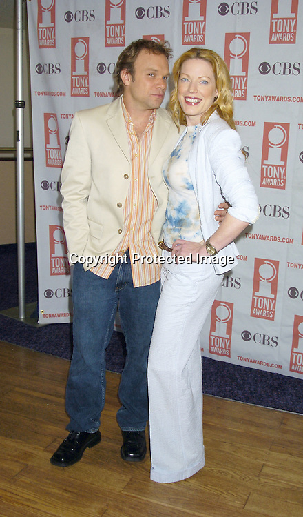 Norbert Leo Butz and Sherie Rene Scott ..at The 2005 Tony Awards Nominees Meet the Press Reception on May 11, 2005 at The Marriott Marquis Hotel. ..Photo by Robin Platzer, Twin Images