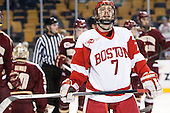 Cason Hohmann (BU - 7) - The Boston College Eagles defeated the Boston University Terriers 3-1 (EN) in their opening round game of the 2014 Beanpot on Monday, February 3, 2014, at TD Garden in Boston, Massachusetts.