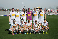 Boyds MD - April 13, 2014:  Western New York Flash Team Photo. The Western New York Flash defeated the Washington Spirit 3-1 in the opening game of the 2014 season of the National Women's Soccer League at the Maryland SoccerPlex.