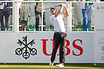 Alexander Björk of Sweden tees off the first hole during the 58th UBS Hong Kong Golf Open as part of the European Tour on 10 December 2016, at the Hong Kong Golf Club, Fanling, Hong Kong, China. Photo by Marcio Rodrigo Machado / Power Sport Images