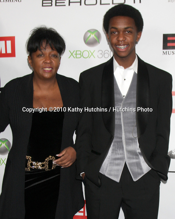 Anita Baker, son.arriving at the EMI Post Grammy Party 2010.W Hotel Hollwood.Los Angeles, CA.January 31, 2010.©2010 Kathy Hutchins / Hutchins Photo....