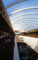 F.L. Wright: Marin County Civic Center. Skylight, Clerestory.  Photo '83.