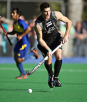 NZ's Joel Baker during the international hockey match between the New Zealand Black Sticks and Malaysia at Fitzherbert Park, Palmerston North, New Zealand on Sunday, 9 August 2009. Photo: Dave Lintott / lintottphoto.co.nz