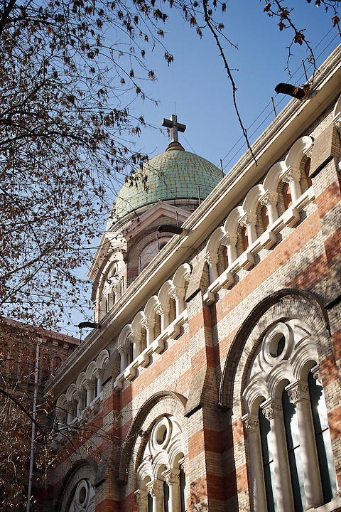 "French Cathedral (""Mission Catholique"" ), Now Known As Xi Kai.  Tianjin (Tientsin)."