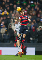 QPR Jake Bidwell and Fulham's Matt Targett during the Sky Bet Championship match between Fulham and Queens Park Rangers at Craven Cottage, London, England on 17 March 2018. Photo by Andrew Aleksiejczuk / PRiME Media Images.