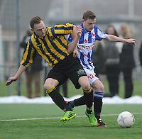 VOETBAL: HEERENVEEN: 23-11-2014, Sportpark Skoatterwâld, VV Heerenveen - Frisia, uitslag 2 - 0,  Mark den Hartog (#8), Ivar Span (#12), ©foto Martin de Jong