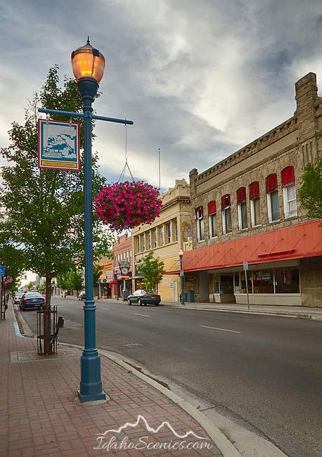 Idaho, South East, Pocatello. Downtown Pocatello in summer.