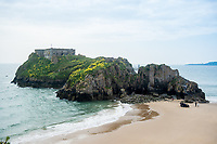 View of St Catherine's Island, Tenby, Pembrokeshire, Wales, UK