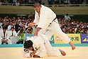 (L to R) Daiki Kamikawa (JPN), Masaru Momose (JPN), April 29, 2012 - Judo: 2012 All Japan Judo Championships, Quarterfinal at Nihon Budokan, Tokyo, Japan. (Photo by Daiju Kitamura/AFLO SPORT) [1045]