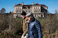 The Breakers, a Vanderbilt mansion, stands above the Cliff Walk National Recreation Trail in Newport, Rhode Island, on Sat., Dec. 3, 2016.