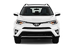 Car photography straight front view of a 2016 Toyota RAV4 XLE 5 Door SUV Front View