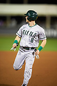 Siena Saints right fielder Dan Lowndes (8) during a game against the UCF Knights on February 17, 2017 at UCF Baseball Complex in Orlando, Florida.  UCF defeated Siena 17-6.  (Mike Janes/Four Seam Images)