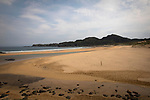 The beach at Kiloran Bay on the west coast of the Inner Hebridean island of Colonsay on Scotland's west coast.  The island is in the council area of Argyll and Bute and has an area of 4,074 hectares (15.7 sq mi). Aligned on a south-west to north-east axis, it measures 8 miles (13 km) in length and reaches 3 miles (4.8 km) at its widest point, in 2019 it had a permanent population of 136 adults and children.