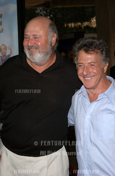Actor DUSTIN HOFFMAN with director ROB REINER at the world premiere of Rat Race, in Los Angeles..30JUL2001. © Paul Smith/Featureflash