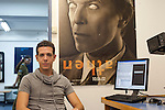 Or Tzelkovnik, musical manager at Galgalatz, at his office in Tel Aviv, Israel. Galgalatz is a military radio station most popular across Israel.<br /> July 22, 2012<br /> Photo by Ahikam Seri