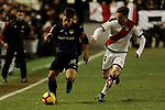 Rayo Vallecano's Alvaro Medran and CD Leganes's Unai Bustinza during La Liga match between Rayo Vallecano and CD Leganes at Vallecas Stadium in Madrid, Spain. February 04, 2019. (ALTERPHOTOS/A. Perez Meca)