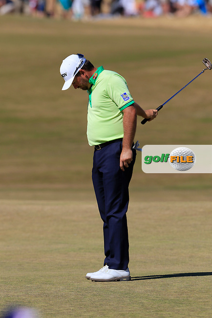 Graeme McDOWELL (NIR) misses his putt on the 6th green during Friday's Round 2 of the 2015 U.S. Open 115th National Championship held at Chambers Bay, Seattle, Washington, USA. 6/19/2015.<br /> Picture: Golffile | Eoin Clarke<br /> <br /> <br /> <br /> <br /> All photo usage must carry mandatory copyright credit (&copy; Golffile | Eoin Clarke)