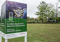Washington D.C. - October 1, 2016: Akridge development site, V Street. Buzzards Point area in Southwest Washington D.C. cleared for construction of the new soccer stadium for D.C. United scheduled to open in 2018.