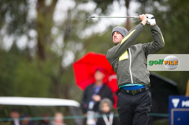 Alexander Bjork (SWE) during the second day of the World cup of Golf, The Metropolitan Golf Club, The Metropolitan Golf Club, Victoria, Australia. 23/11/2018<br /> Picture: Golffile | Anthony Powter<br /> <br /> <br /> All photo usage must carry mandatory copyright credit (© Golffile | Anthony Powter)