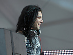 Skrillex (real name Sonny Moore) performs during the Hangout Music Fest in Gulf Shores, Alabama on May 19, 2012.
