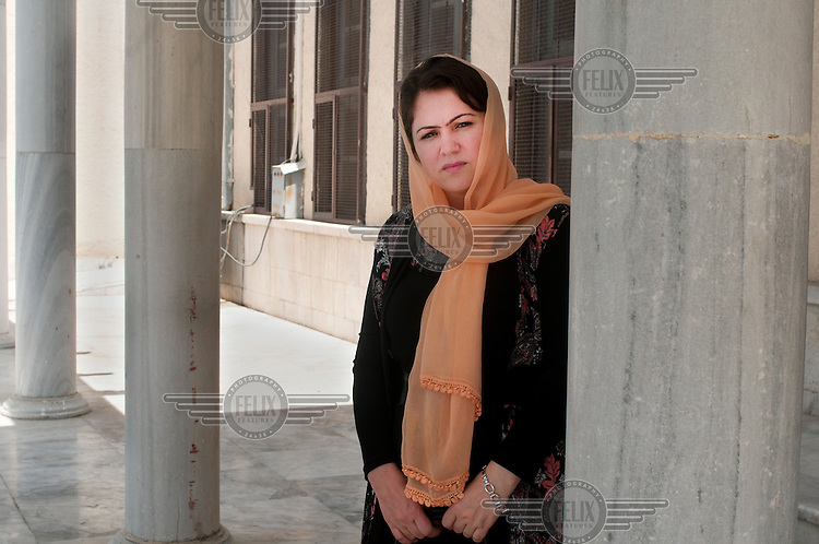 35 year old Fawzia Koofi, MP and Presidential candidate for 2014, in Kabul.