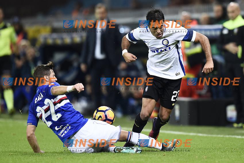 Genova 30-10-2016 - Football campionato di calcio serie A / Sampdoria - Inter / foto Image Sport/Insidefoto<br />  Martin Eder-Jacopo Sala