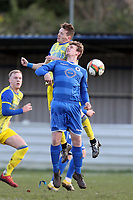 Benjamin Crilley of Walthamstow and Smith of Hashtag United during Walthamstow vs Hashtag United, Essex Senior League Football at Wadham Lodge Sports Ground on 30th November 2019