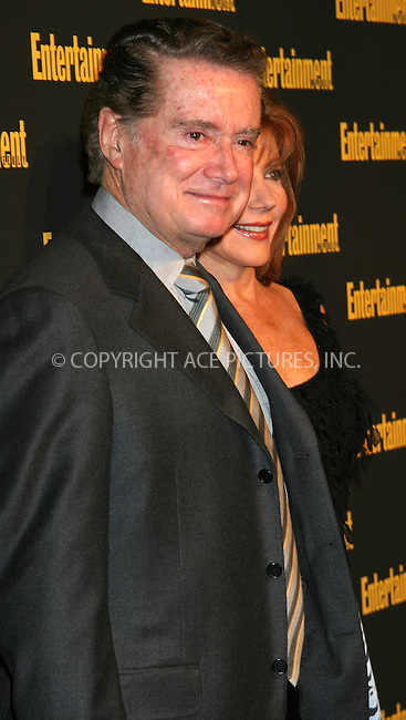 WWW.ACEPIXS.COM . . . . . ....NEW YORK, FEBRUARY 27, 2005....Regis and Joy Philbin at Entertainment Weekly's Academy Awards party at Elaine's.....Please byline: ACE009 - ACE PICTURES.. . . . . . ..Ace Pictures, Inc:  ..Philip Vaughan (646) 769-0430..e-mail: info@acepixs.com..web: http://www.acepixs.com