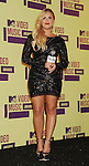 LOS ANGELES, CA - SEPTEMBER 06: Demi Lovato poses in the press room during the 2012 MTV Video Music Awards at Staples Center on September 6, 2012 in Los Angeles, California.