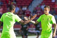 Santa Clara, CA - July 30, 2016: Liverpool FC defeated AC Milan 2-0 in a 2016 International Champions Cup match at Levi's Stadium.