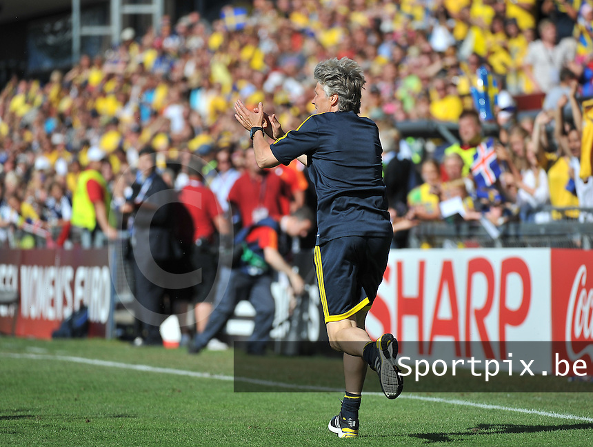 Sweden - Iceland : Pia Sundhage<br /> foto David Catry / nikonpro.be