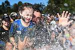 NELSON, NEW ZEALAND - MARCH 5: From Wakefield Scott Robinson and his daughter Kadie during the Sport Tasman 2017 Muddy Buddy on March 5, 2017 in Nelson, New Zealand. (Photo by: Chris Symes/Shuttersport Limited)