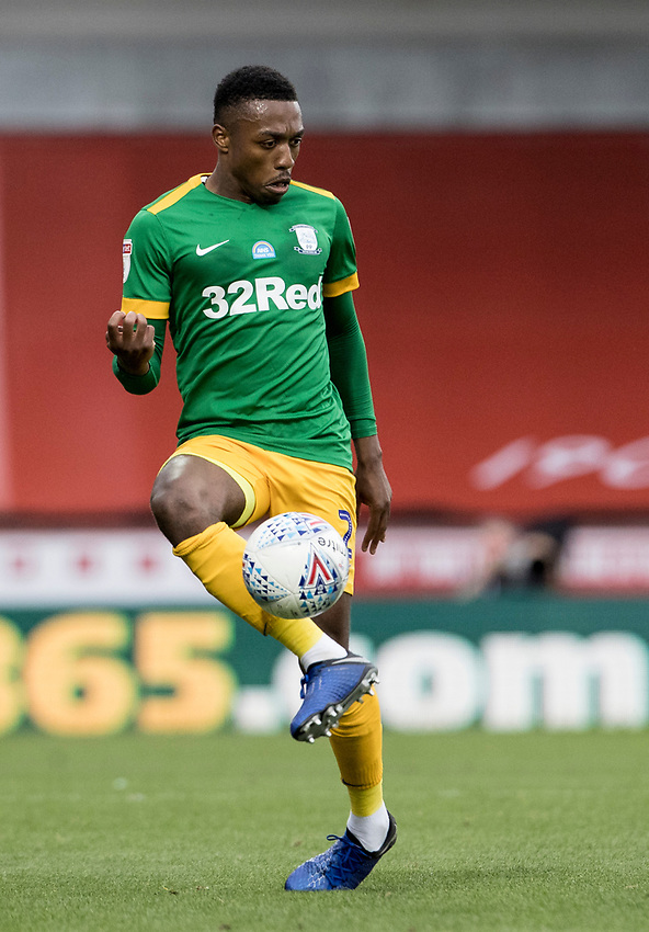 Preston North End's Darnell Fisher <br /> <br /> Photographer Andrew Kearns/CameraSport<br /> <br /> The EFL Sky Bet Championship - Brentford v Preston North End - Wednesday 15th July 2020 - Griffin Park - Brentford <br /> <br /> World Copyright © 2020 CameraSport. All rights reserved. 43 Linden Ave. Countesthorpe. Leicester. England. LE8 5PG - Tel: +44 (0) 116 277 4147 - admin@camerasport.com - www.camerasport.com