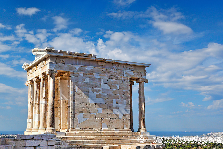 The Temple of Athena Nike Apteros (427 B.C.) on the Athenian Acropolis, Greece